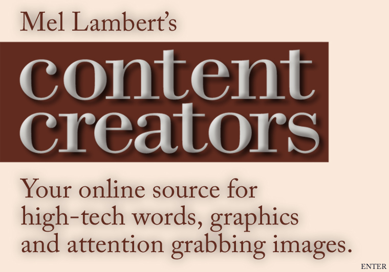 Content Creators Home Page